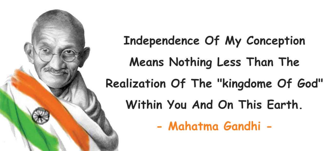 independence day quotes by mahatma gandhi