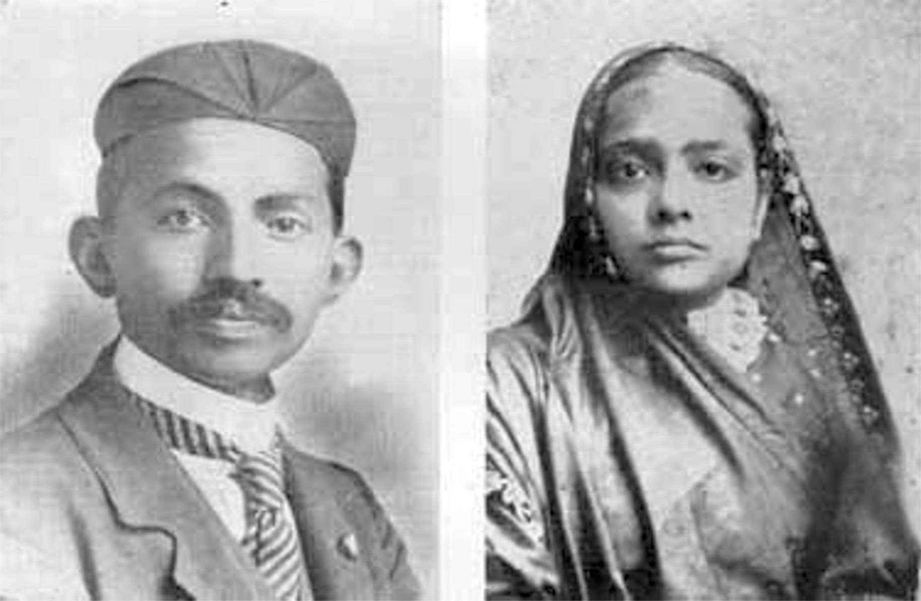 young mahatma gandhi and kasturba